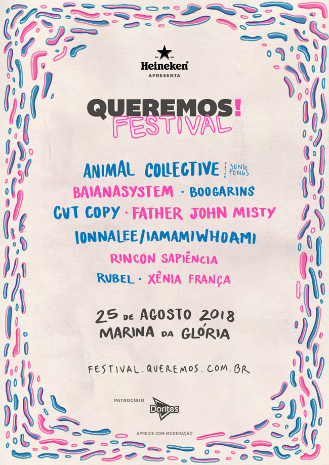 Line-up Queremos! Festival 2018